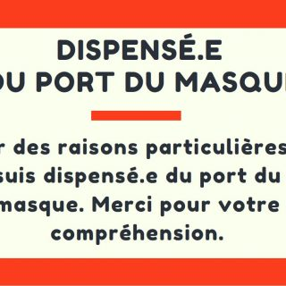 carte de dispense port du masque