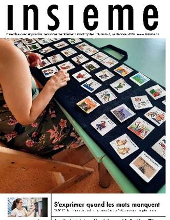 la couverture du magazine insieme met en scène des fiches pictogrammes de la communication alternative et améliorée