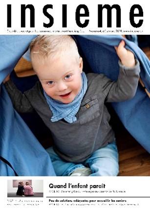 la  couverture du magazine insieme présente une enfant vivant avec une trisomie 21