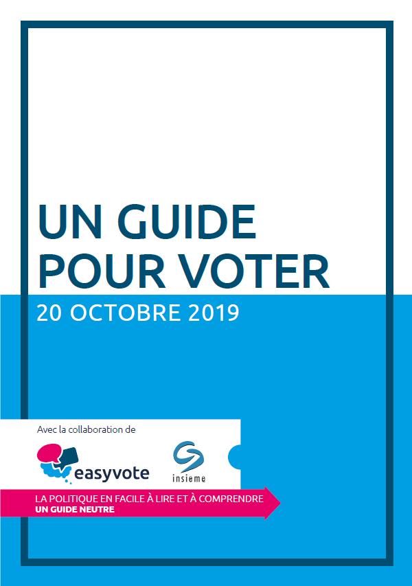 Titelbild der Broschüre mit dem Schriftzug Wahlhilfe.