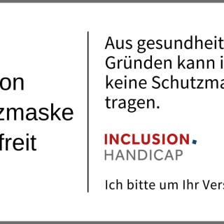 «Kärtchen «Von Schutzmaske befreit»