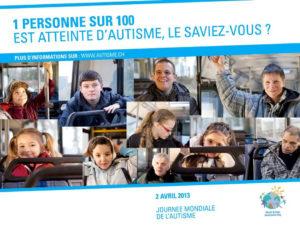Affiche de la campagne journée autisme 2103