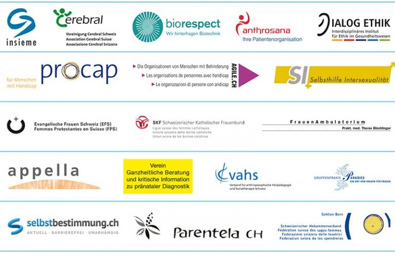 """Les 18 organisations de """"La diversité au lieu de la sélection"""""""